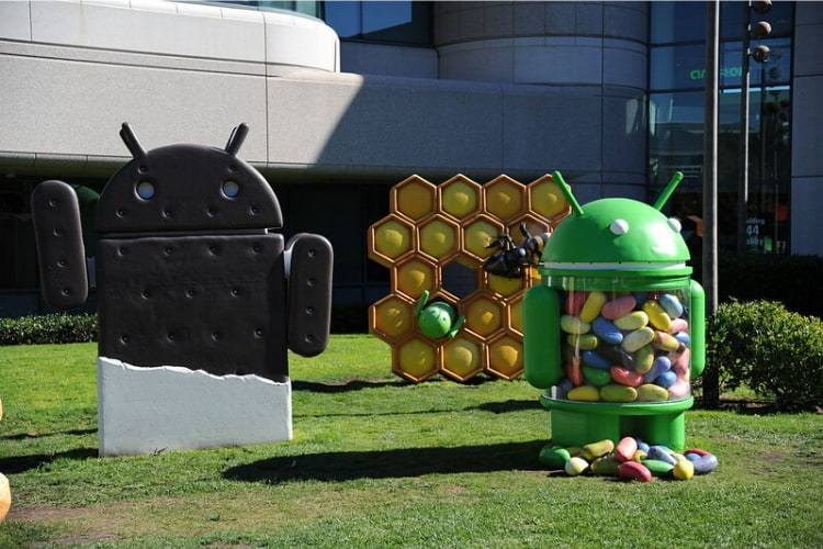 Googleplex Android Garden at Google HQ in Silicon Valley