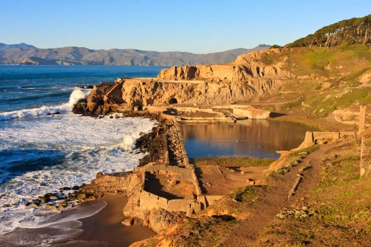 Sutro Baths Ruins and Cave in San Francisco, CA