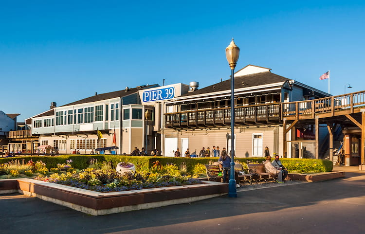 a pier 39 exterior on a clear day