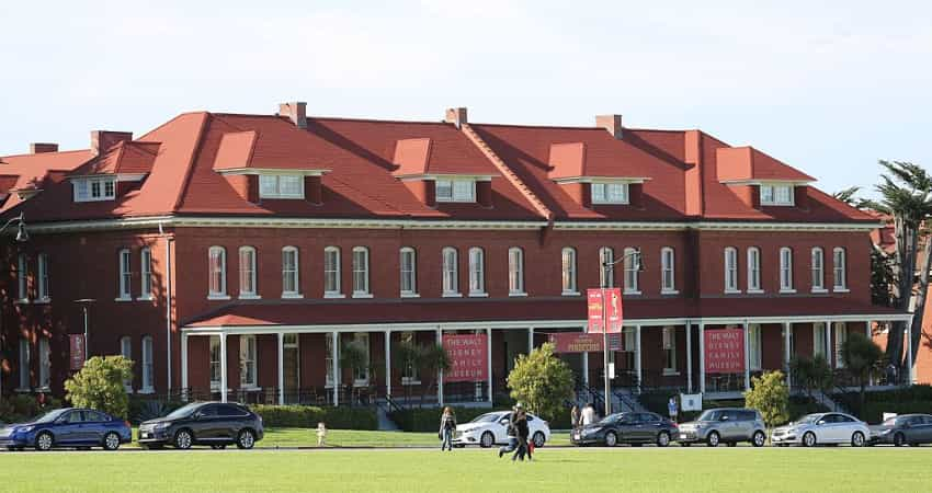 The outside of the Walt Disney Family Museum in the Presidio
