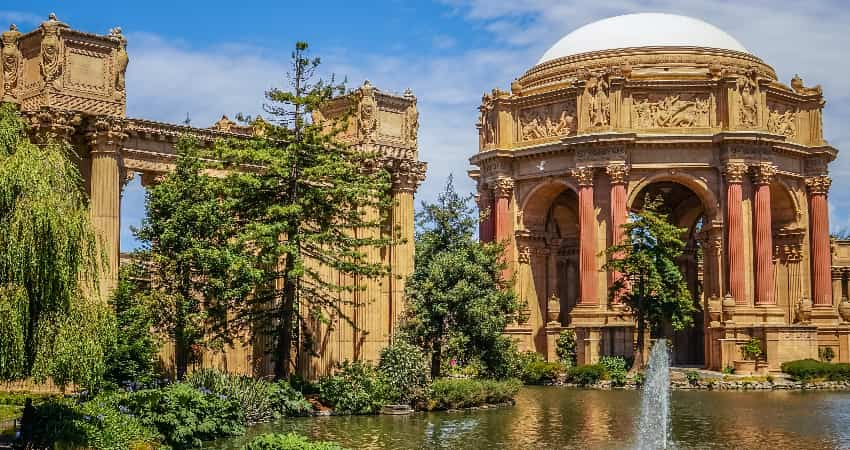 Exterior of the Palace of Fine Arts in San Francisco